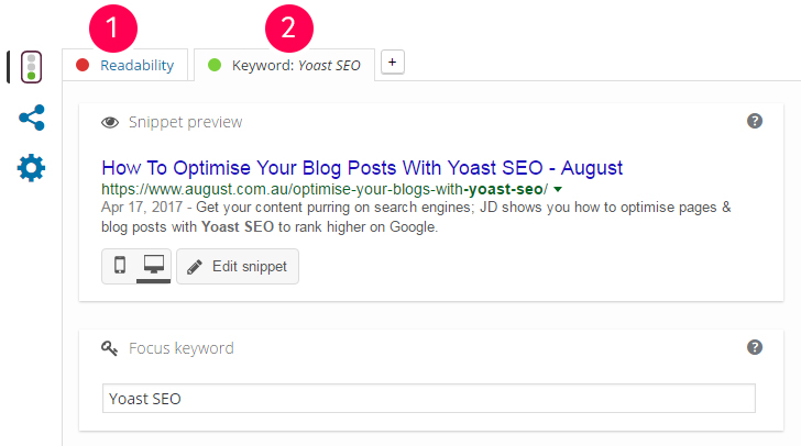 Yoast SEO Readability Analysis
